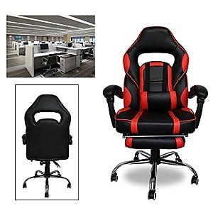 51xcKi74wzL. SS300  - HG-Silla-Giratoria-De-Oficina-Gaming-Chair-Apoyabrazos-Acolchados-Premium-Comfort-Silla-Racing-Capacidad-De-Carga-200-Kg-Altura-Ajustable-NegroRojo