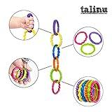 TALINU bunte Kinderwagenkette 24-teilig | mit 2 Jahren Zufriedenheitsgarantie | Babyspielkette, Wagenkette, Kinderwagenspielzeug von eSpring GmbH