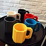 The Vogue Nation Creative Drink-ware Removable Build-On Brick Lego Mug Type Building Block Coffee Cup DIY Block Puzzle Mug Lego Cup Christmas Gift