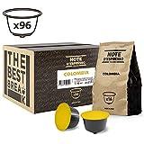 Note D'Espresso - Cápsulas de café de Colombia Exclusivamente Compatibles con cafeteras de cápsulas Nescafé* y Dolce Gusto* 7g (caja de 96 unidades)
