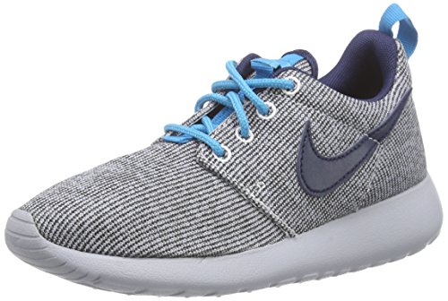 Nike Roshe One (Gs), Baskets Basses Mixte Enfant Gris (white/mid Navy-bl Lgn-wlf Gry 100)