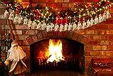 Adventskalender zum Befüllen - Adventskalender zum Selberfüllen - 24 Deco Säckchen Kette zum selber befüllbar und Aufhängen, Jutesäckchen, Zahlen Buttons - 2018 Weihnachtskalender Geschenk