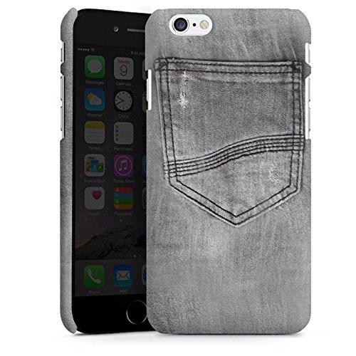 Apple iPhone 5s Housse Étui Protection Coque Style jeans Pantalon Gris Cas Premium mat