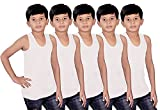 #10: Kids Basket Boys 100% Pure Cotton Kids White Vest Inner wear Brief ( Pack Of 5) - Regular Use