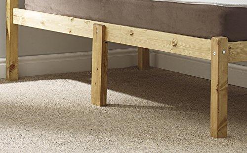 WAXED PINE 3ft Single (90cm) HEAVY DUTY wooden bed frame -