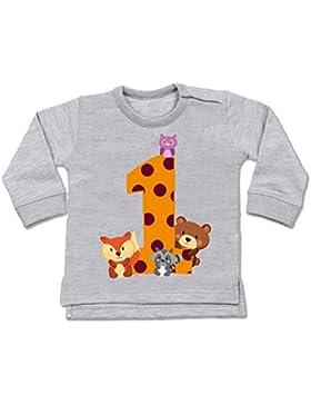 Shirtracer Geburtstag Baby - 1. Geburtstag Waldtiere - Baby Pullover