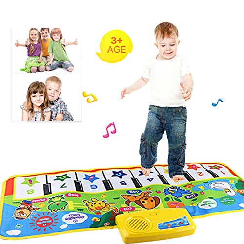 Vovotrade✿✿ Neue Noten Spiel Tastatur musikalische Musik-singende Gymnastik Teppich Matte Bester Kinderbaby Geschenk