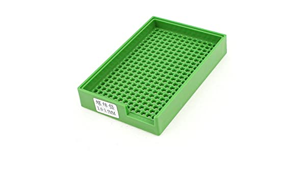 Anti-Static Plastic Rectangle Screw Tray Holder 273 Holes for 3.0mm-3.5mm Screw