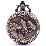 Reloj de Bolsillo de Cuarzo con Cadena para Hombre y Mujer, con Caja de Regalo de cumpleaños