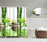Paesaggio Stampato Accessori per Il Bagno Home Decor Tenda Bagno Tessuto Impermeabile Tende da Doccia schermi Bagno con Ganci Zen 180X200CM
