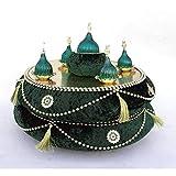 OZYOL Osmanli - Henna-Tablett und Gastgeschenk-Korb für Hennaabend Polterabend Hochzeit Party Kina Gecesi Tepsi (Grün)