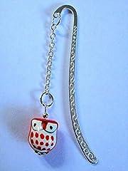 Idea Regalo - 1metallo segnalibro/segnalibro–Owl–scelta di stile e colori–1ST4BEADS (TM) - Porcelain Owl - Orange