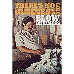 "Narcos - Póster, con texto ""No Business"", madera, multicolor"