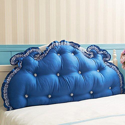 MMM- Coussin de canapé de lit de dossier de coton Coussin de chevet de grand coussin de dos (Couleur : Bleu foncé, taille : 150cm)