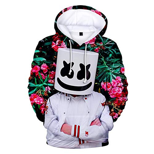 SQNRNB Kapuzenpullover,Unisex Film Clown Theme Sweatshirt Jugend Langarm Lässig Pullover Hoodie Paar Rollkragen Top, Marshmallow, Xs