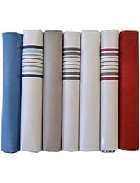 7 Pack Hommes Teints & Plaine Dépouillé Mouchoirs 100 % Coton, Couleurs Assorties
