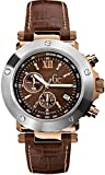 GC  Se-1 Chrono - Reloj de cuarzo para hombre, con correa de cuero, color marrón
