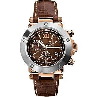GC  Se-1 Chrono – Reloj de cuarzo para hombre, con correa de cuero, color marrón