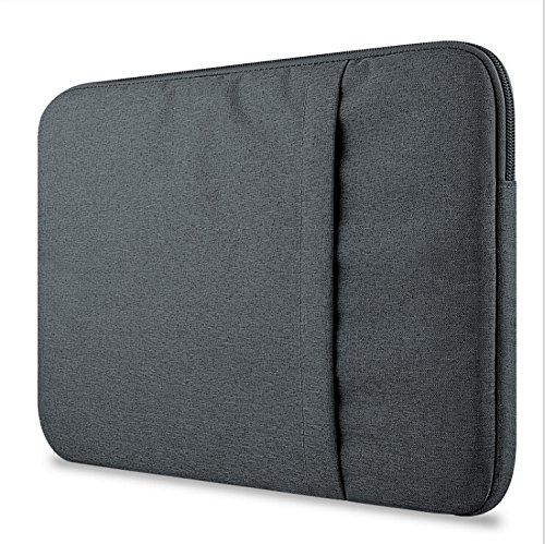 Dell Latitude 5285 Laptop hülle sleeve, KuGi Dell Latitude 5285 12.0 Zoll Laptop Hülle Tasche Denim Stoff Tasche für Dell Latitude 5285 12.0 Zoll Oberfläche Buch. (Schwarz) (Dell Computer Latitude)