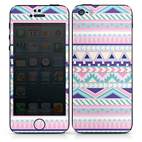 Apple iPhone SE Case Skin Sticker aus Vinyl-Folie Aufkleber Zacken Mädchen Muster DesignSkins® glänzend