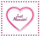 Always Amore® Hochzeitsherz zum Ausschneiden, hochwertiger Stoff und extrastarke Schlaufen, Hochzeitsgeschenk, Herzmotiv, Laken für Braut und Bräutigam für tolle Fotos in verschiedenen Farben, Rot