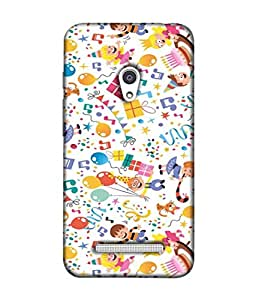 PrintVisa Designer Back Case Cover for Asus Zenfone Go ZC500TG (5 Inches) (Birthday celebration cakes occasions rich)