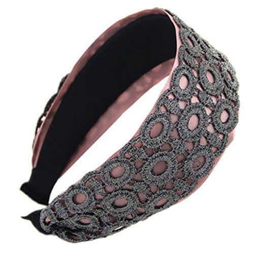 Style coréen large élégant Bandeau Hairband Coiffe, brun doré