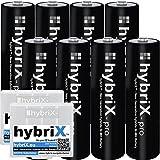 8er Pack hybriX pro Black AA - 8x Mignon AA Hybrid Akkus in Box - Die Neue Generation von Hybrid Akku Batterien