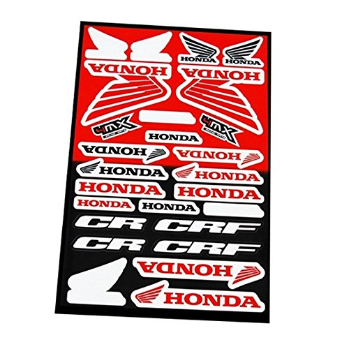 ONOGAL Kit 24 Pegatinas Vinilo de Moto Motocicleta Honda Tunning Tunear Restaurar...