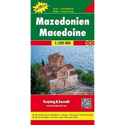 Macedonia 1:200.000: Toeristische Wegenkaart 1:200 000