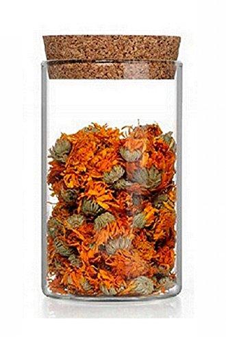 4 pezzo un 1000 ml anfora in vetro tappo in sughero bomboniere scatola in vetro con coperchio, contenitore ermetico per alimenti, borosilicato di alta qualità, riutilizzabili, trasparente barattolo per conserve/alimenti di slkfactory