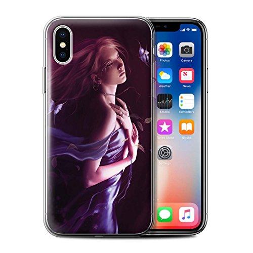 Offiziell Elena Dudina Hülle / Gel TPU Case für Apple iPhone X/10 / Feenstaub Muster / Einer mit Natur Kollektion Durch Den Wind