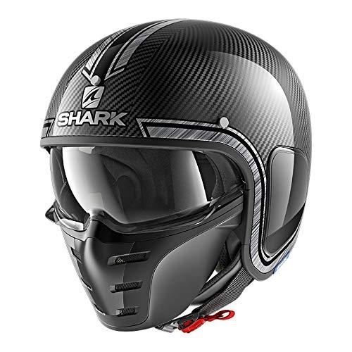 Shark Motorradhelm S-DRAK CARBON VINTA DUS, Schwarz/Grau, M