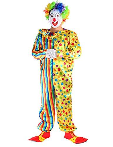 THEE Clown Kostüm Halloween Cosplay Karneval Fasching Fastzeit Herren