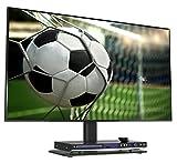 RICOO TV Standfuss Universal Höhenverstellbar Ständer FS304B Fernsehtisch Standfuß Halterung Fernsehständer LCD LED Flachbildfernseher Stand Glas Aufsatz VESA 400x400 Tischständer/Schwarz Test