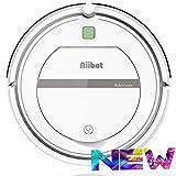 AIIBOT Aspirador Robot con Sistema de Limpieza de 3- Etapas, Sensor Inteligente de Detención de Caídas, Filtro HEPA, para Apartamentos/Casa Pequeña/Piso Duro/Alfombra de Pila Baja (T288-white)
