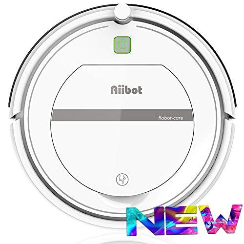 AIIBOT Saugroboter 4-Stufen-Reinigungssystem, leistungsstarke Absaugung, reinigt alle Hartböden und Teppich, leise, hervorragend für Tierhaare (T288-white)