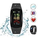 Купить Evershop Fitness Armband Schwimmen IP68 Fitness Tracker wasserdicht, Fitness Uhr mit Herzfrequenzmessung, Kalorienzähler, Schlafmonitor für Android iOS APP auf Deutsch