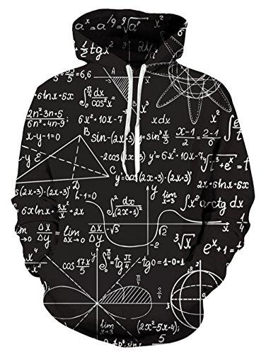 hen Hoodie 3D Mathematik Kapuzenjacke Lustig Kleidung Unisex SweaSweatshirt ()