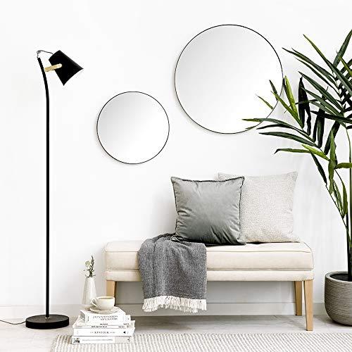 Kenay Home Egel Negro Espejo Decorativo Pared, D.60