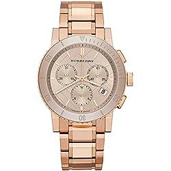 Burberry BU9703 Swiss Chronograph Women's Watch - Rose Gold