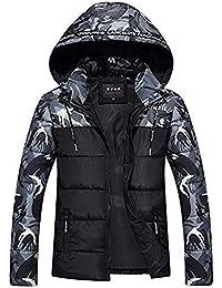 Selou Herren Wintermantel Hoodie Camouflage Printing Verdickte Baumwolle  Outwear Jacke Coat Step Sweat Jacke Softshell Hoodie Winterjacke… d65389d79f