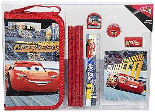 Disney Pixar - Cars 3: Evolution Set Briefpapier für Kinder Kawaii Schulbedarf Limitierte Auflage Schulschreibsets