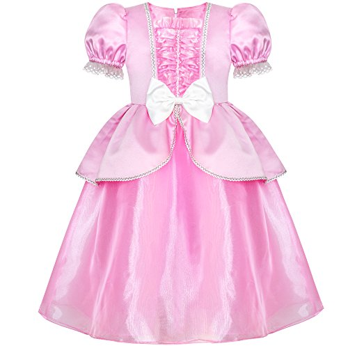 Sunny Fashion Girls Dress Pink Princess Cosplay Costume Dress up Party Age 6-12 Years