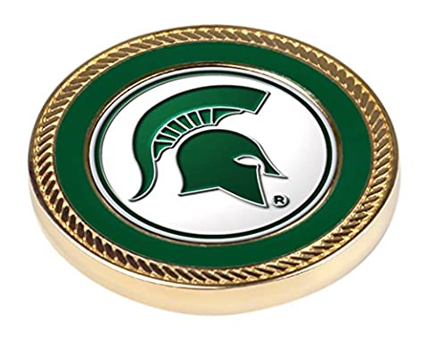 LinksWalker 2 Michigan State Spartans-Challenge Coin / 2 Ball Markers, Silver, One Size