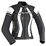 Ixon Blouson Moto Alcyone, Noir/Blanc, Taille 3XL