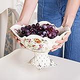 continental Frucht American modern Frucht Kreative Wohnzimmer Couchtisch Dekorationen und Set Keramik Obstschale [Moderne amerikanische Obstteller]-C
