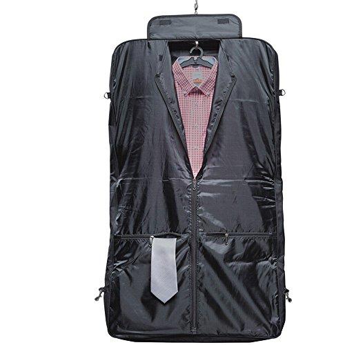 Portatraje de Viaje de Poliéster con polipiel con cuero sintetico negro XXL