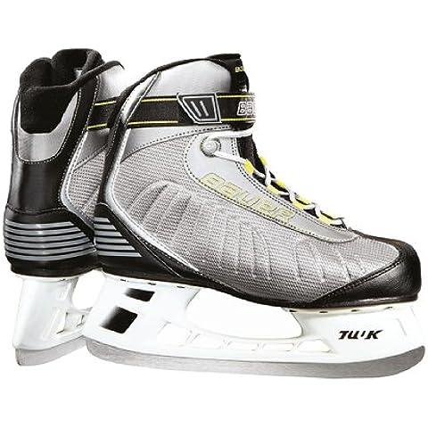 Bauer Bauer Erwachsene Schlittschuhe Bauer Fast Rec Ice Skate Men - Patines de hockey sobre hielo, color plata, talla 6, 7, 8, 9, 10, 11 und 12