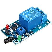ROUHO Sensore di Rilevamento Fiamma Flare Modulo 12V Ricevitore A Infrarossi Modulo per Arduino